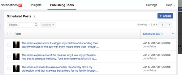 Facebook Tips: Post Scheduling