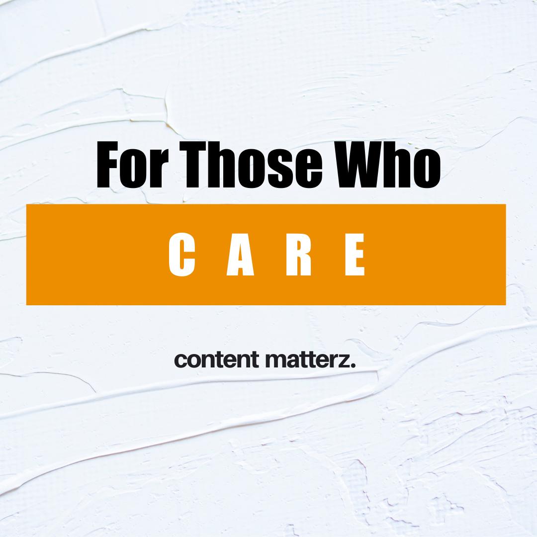 Entrepreneurial Content | For Those Who Care | KazCM Content Marketing