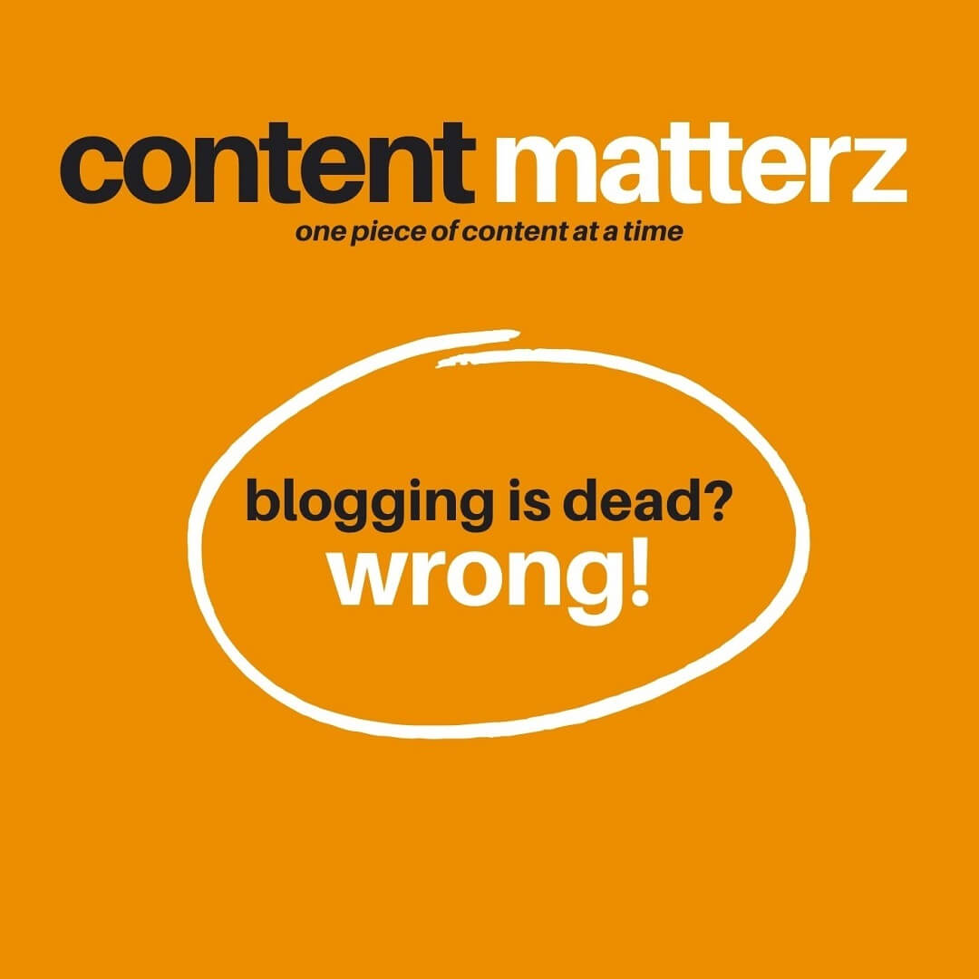 blogging is dead? those some people are wrong.