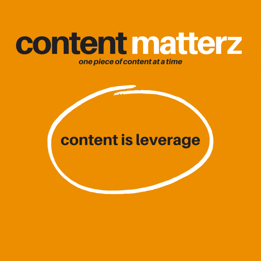Content is Leverage | Content Matterz podcast
