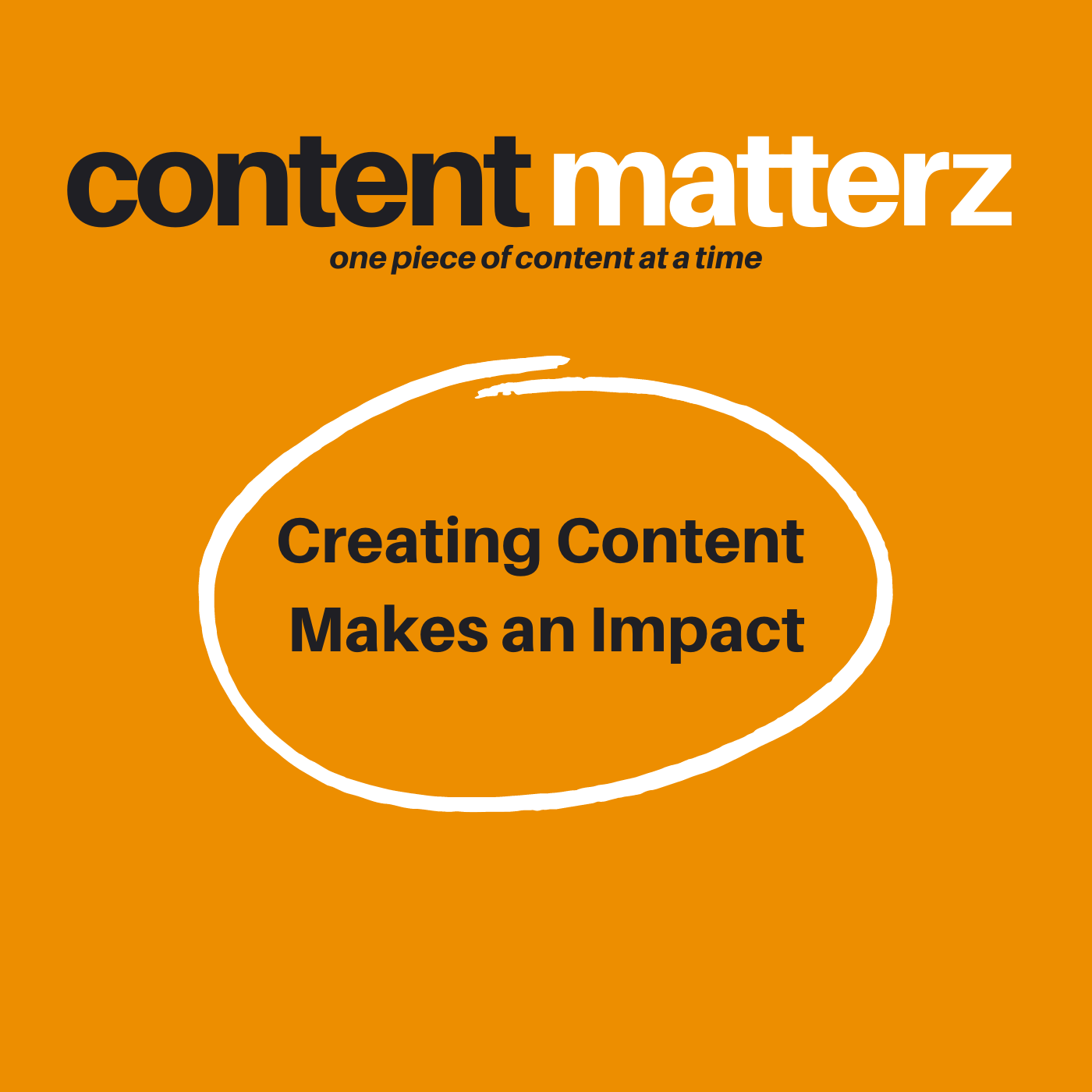 Creating Content Makes an Impact